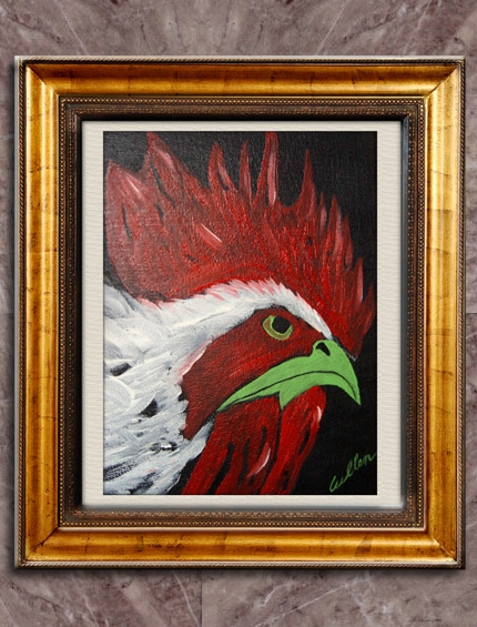 Chickens On Canvas 01