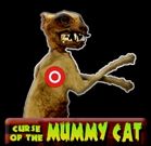 Curse Of The Mummy Cat Button